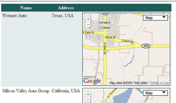 Insert Google Map Inside Data Grid View